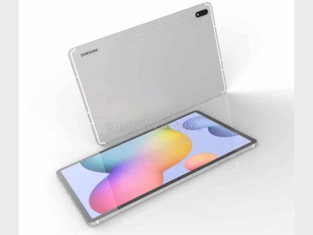 samsung galaxy tab s7 plus render 640x480-Samsung Galaxy Tab S7 + のスペックがリーク。Snapdragon 865+を搭載