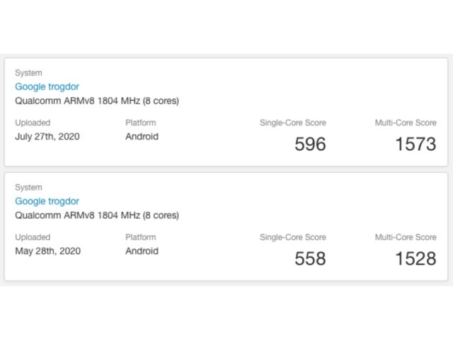 trogdor lazor on geekbench 01 640x480-Chromebook「Lazor」がGeekbenchに登場。Snapdragon 730(G)搭載の可能性