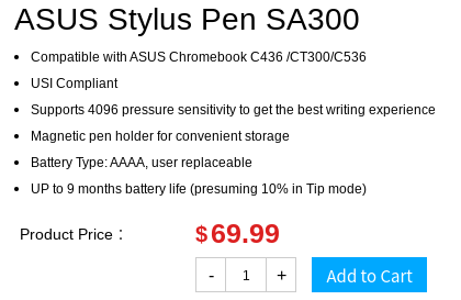 Screenshot 2020 09 03 at 13.20.21-ASUS米国ストアにUSIスタイラスペン「SA300」が登場。対応するのはChromebook C436だけじゃない