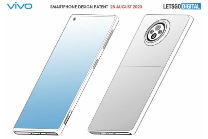 vivo smartphone design patent 200828 01 800x533-Vivoがハイブリッドズームと物理ズームボタンを搭載するスマートフォンの特許を取得