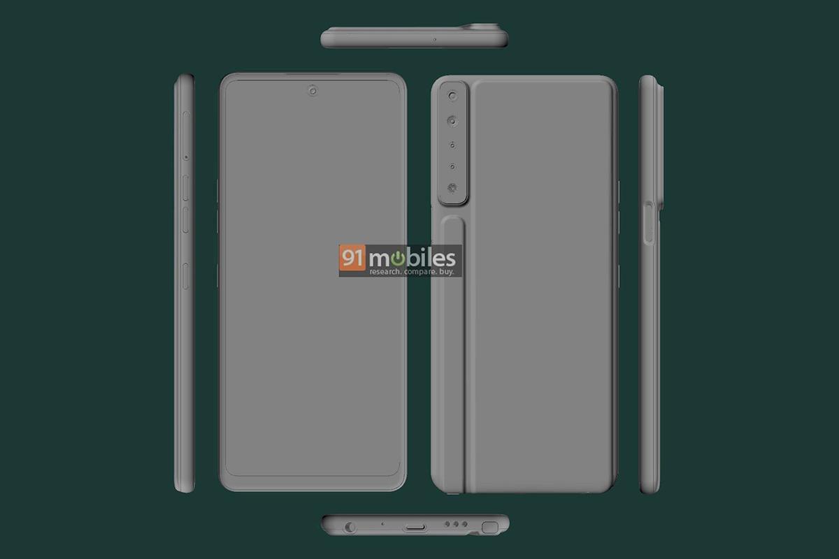 cad render leak lg stylo 7-Xiaomiがポップアップカメラ搭載の折りたたみ式スマートフォンを開発中
