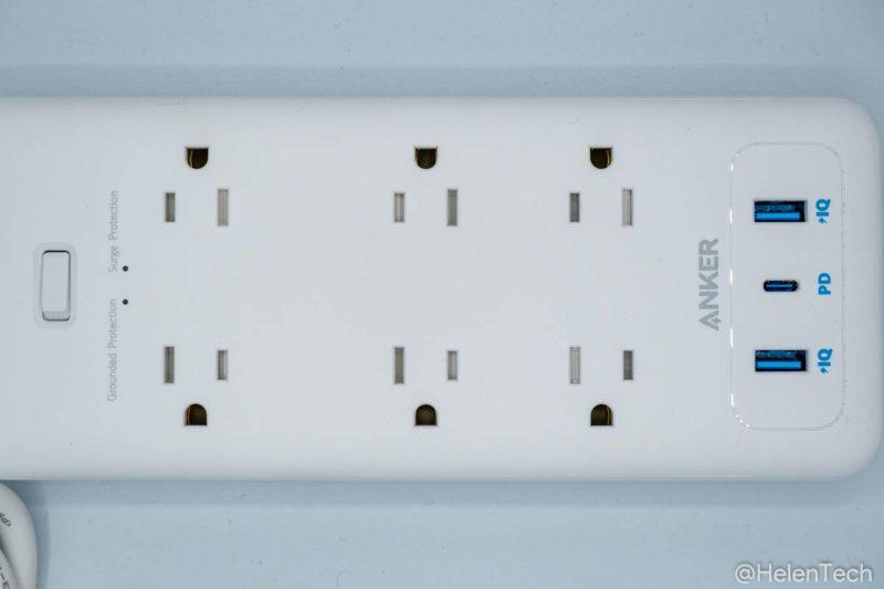 review anker pps pd 6 004 800x533-「Anker PowerPort Strip PD 6 (USBポート付き電源タップ)」をレビュー。海外製品を使うときにも便利な1台