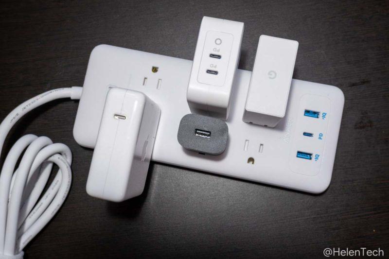 review anker pps pd 6 009 800x533-「Anker PowerPort Strip PD 6 (USBポート付き電源タップ)」をレビュー。海外製品を使うときにも便利な1台