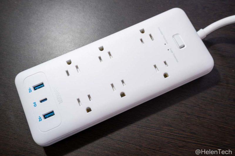 review anker pps pd 6 014 800x533-「Anker PowerPort Strip PD 6 (USBポート付き電源タップ)」をレビュー。海外製品を使うときにも便利な1台
