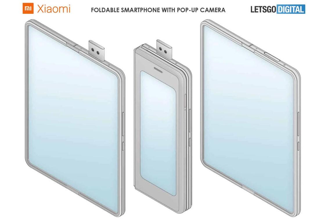 xiaomi patent popup cam foldable phone 1130x753-Xiaomiがポップアップカメラ搭載の折りたたみ式スマートフォンを開発中