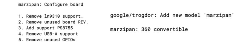new board development marzipan-Snapdragon 7c搭載の新しいChromebook「Marzipan」が開発スタート