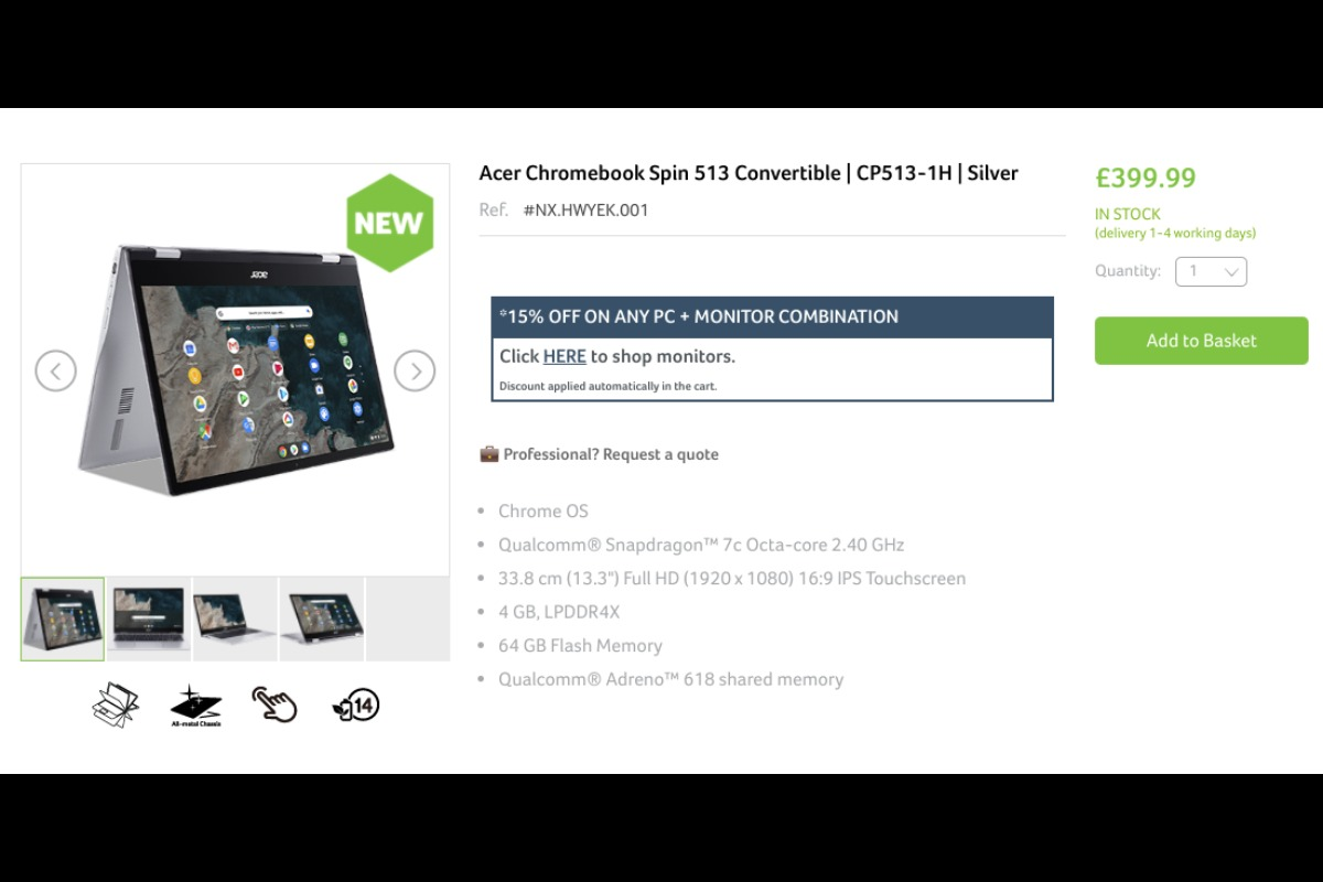 sales start acer chromebook spin 513 in uk-「ASUS Chromebook Detachable CM3(CM3000)」は米国で約370ドルから販売されるようです